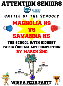 Battle of the Schools - FAFSA Competition