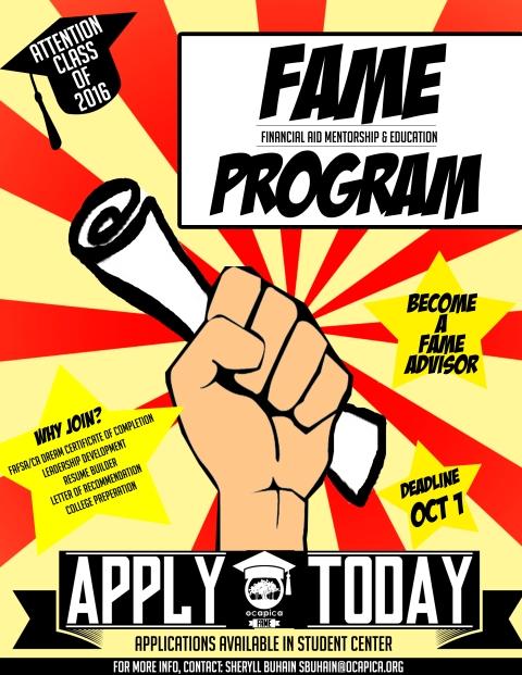FAME Recruitment Flyer - SVHS